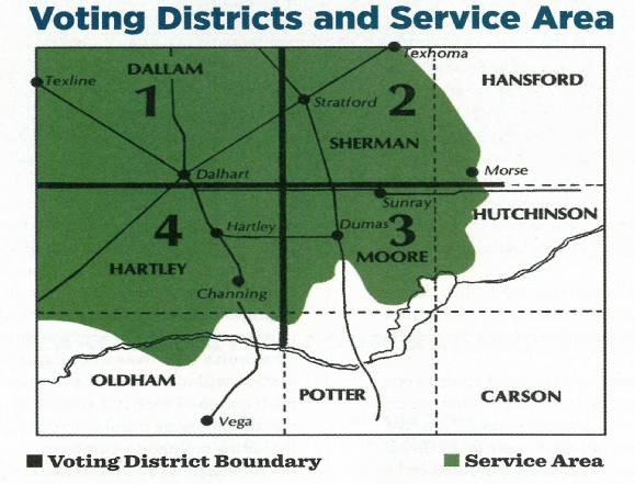 voting districts and service area
